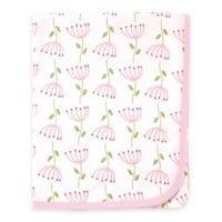 BabyVision® Touched by Nature Flower Print Organic Cotton Knit Blanket in Pink