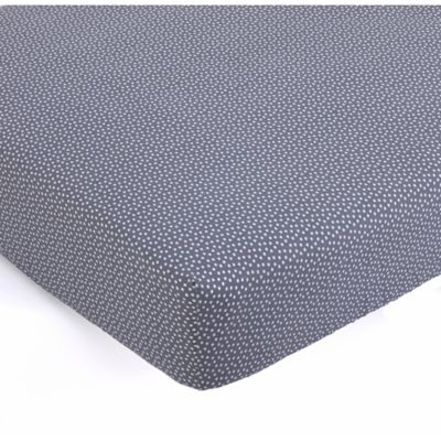 balboa baby polka dot fitted crib sheet in greywhite