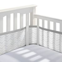 BreathableBaby® Breathable Mesh Chevron Crib Liner in Grey