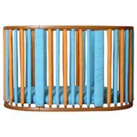 Go Mama Go Designs® Wonder Bumpers for Stokke Cribs in Orange/Blue