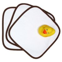 Loved 5-Piece Washcloth and Rubber Ducky Gift Set in Chocolate Brown