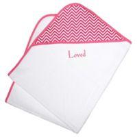 Loved Chevron Hooded Towel Gift Set in Cotton Candy