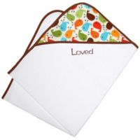 Loved Chevron Hooded Towel Gift Set in Toffee Tan