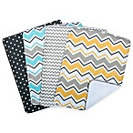 Trend Lab® 4-Pack Zigzag Burp Cloth Set in Grey
