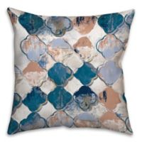 Royal Drippy Quatrefoil 18-Inch Square Throw Pillow