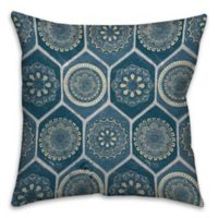 18-Inch x 18-Inch Exotic Emblems Square Throw Pillow in Blue