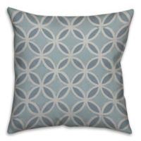 Painted Circle Abstract 18-Inch Square Throw Pillow