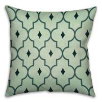 Sea Quatrefoil 18-Inch Square Throw Pillow in Green/Blue