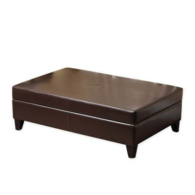 Abbyson Living® Frankfurt Flip Top Storage Ottoman In Brown