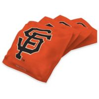 MLB San Francisco Giants 16 oz. Duck Cloth Cornhole Bean Bags in Orange (Set of 4)