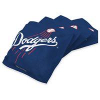 MLB Los Angeles Dodgers 16 oz. Duck Cloth Cornhole Bean Bags in Blue (Set of 4)