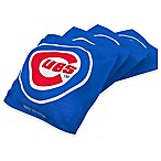 MLB Chicago Cubs 16 oz. Regulation Cornhole Bean Bags in Blue (Set of 4)