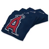 MLB Los Angeles Angels 16 oz. Regulation Cornhole Bean Bags in Navy (Set of 4)