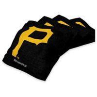 MLB Pittsburgh Pirates16 oz. Duck Cloth Cornhole Bean Bags in Black (Set of 4)