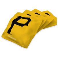 MLB Pittsburgh Pirates 16 oz. Duck Cloth Cornhole Bean Bags in Yellow (Set of 4)