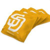 MLB San Diego Padres 16 oz. Regulation Cornhole Bean Bags in Gold (Set of 4)