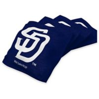MLB San Diego Padres 16 oz. Regulation Cornhole Bean Bags in Navy (Set of 4)