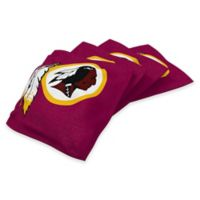 NFL Washington Redskins 16 oz. Duck Cloth Cornhole Bean Bags in Red (Set of 4)