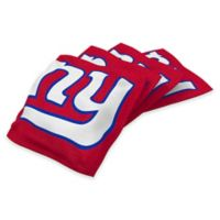 NFL New York Giants 16 oz. Duck Cloth Cornhole Bean Bags in Red (Set of 4)