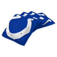 NFL Indianapolis Colts 16 oz. Duck Cloth Cornhole Bean Bags in Blue (Set of 4)