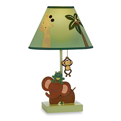Jungle Babies Table Lamp With Shade By Nojo 174 Bed Bath