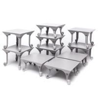Sterling Risers Classic Tabletop Designs in Grey (Set of 10)