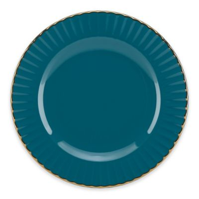 Marchesa by Lenox® Shades of Teal Party Plate  sc 1 st  Bed Bath u0026 Beyond & Buy Teal Dinnerware from Bed Bath u0026 Beyond