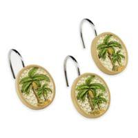 Avanti Colony Palm Shower Curtain Hooks (Set of 12)