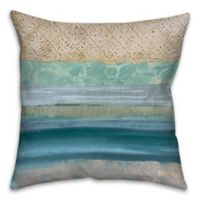 Pattern Band Waves 18-Inch Square Throw Pillow in Blue