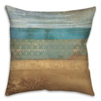 Pattern Bands 18-Inch Square Throw Pillow in Blue
