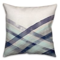 Bigger Wave Wash 18-Inch Square Throw Pillow in Blue
