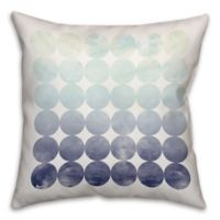 Circles 18-Inch Square Throw Pillow in Mint/Navy