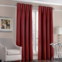 Designers' Select™ Satin Diamond 63-Inch Rod Pocket/Back Tab Window Curtain Panel in Red