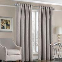 Designers' Select™ Satin Diamond 95-Inch Rod Pocket/Back Tab Window Curtain Panel in Grey
