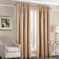 Designers' Select™ Satin Diamond 95-Inch Rod Pocket/Back Tab Window Curtain Panel in Gold
