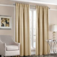 Designers' Select™ Satin Stripe 95-Inch Rod Pocket/Back Tab Window Curtain Panel in Oat