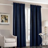 Designers' Select™ Satin Stripe 63-Inch Rod Pocket/Back Tab Window Curtain Panel in Navy