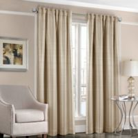 Designers' Select™ Satin Stripe 108-Inch Rod Pocket/Back Tab Window Curtain Panel in Taupe