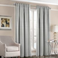 Designers' Select™ Satin Stripe 95-Inch Rod Pocket/Back Tab Window Curtain Panel in Blue