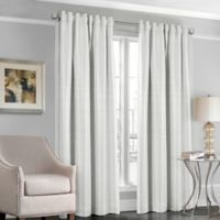 Designers' Select™ Satin Stripe 84-Inch Rod Pocket/Back Tab Window Curtain Panel in White