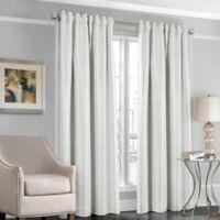 Designers' Select™ Satin Stripe 63-Inch Rod Pocket/Back Tab Window Curtain Panel in White