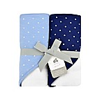 Just Born Sparkle Navy 2- Pack Hooded Towel Set