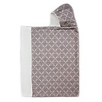 Bella Bundles™ Snap Hooded Towel in Grey Damask
