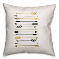 Arrows Galore 18-Inch Square Throw Pillow in Black/Gold