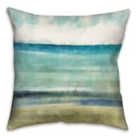 Cool Ocean Abstract 16-Inch Throw Pillow in Blue/Beige