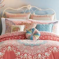 Jessica Simpson Amrita Medallion European Pillow Sham in Coral