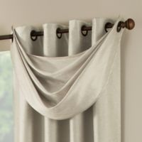 Paradise Waterfall Window Valance in Ivory