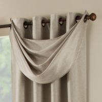 Paradise Waterfall Window Valance in Flax