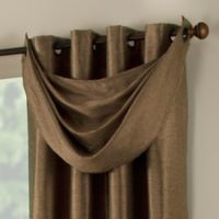 Paradise Waterfall Window Valance in Mocha