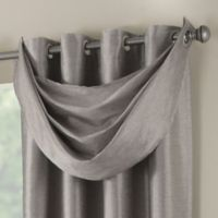 Paradise Waterfall Window Valance in Stone